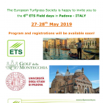 ETS Field Days 2019: date announced!